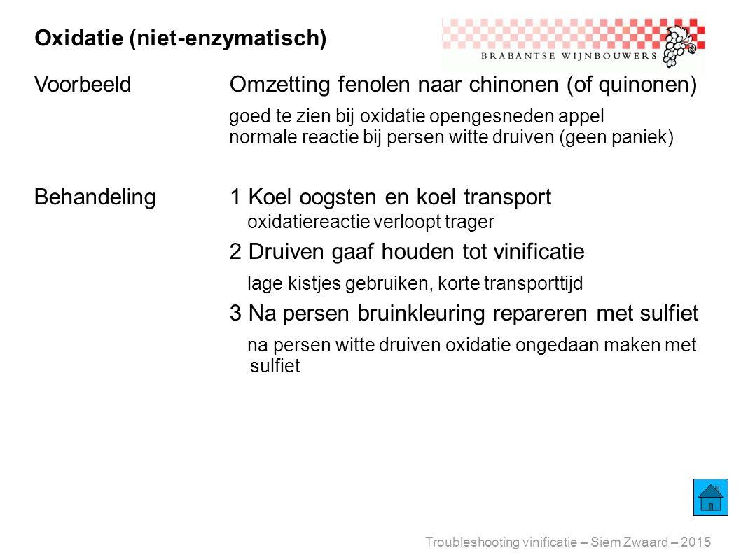Oxidatie (niet-enzymatisch)