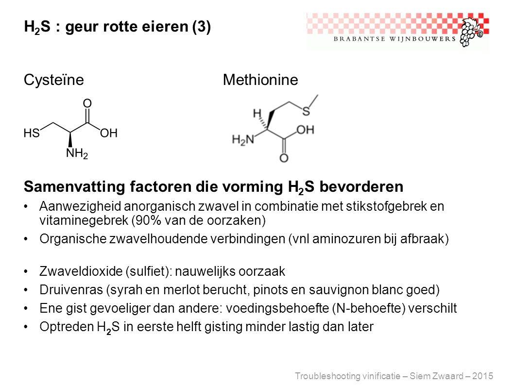 H2S : geur rotte eieren (3)