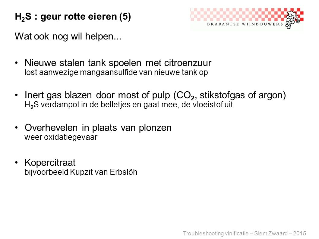 H2S : geur rotte eieren (5)