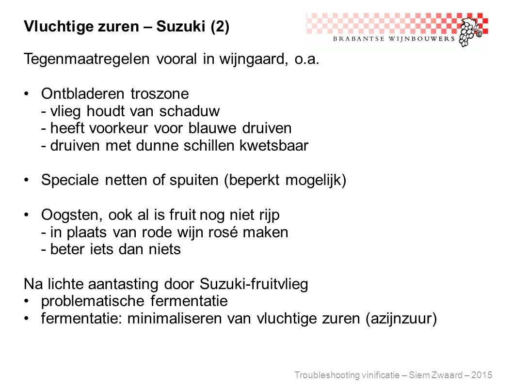 Vluchtige zuren – Suzuki (2)