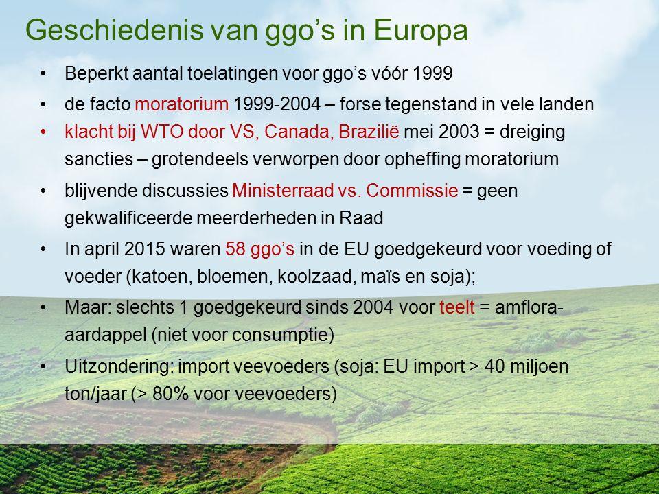 Geschiedenis van ggo's in Europa