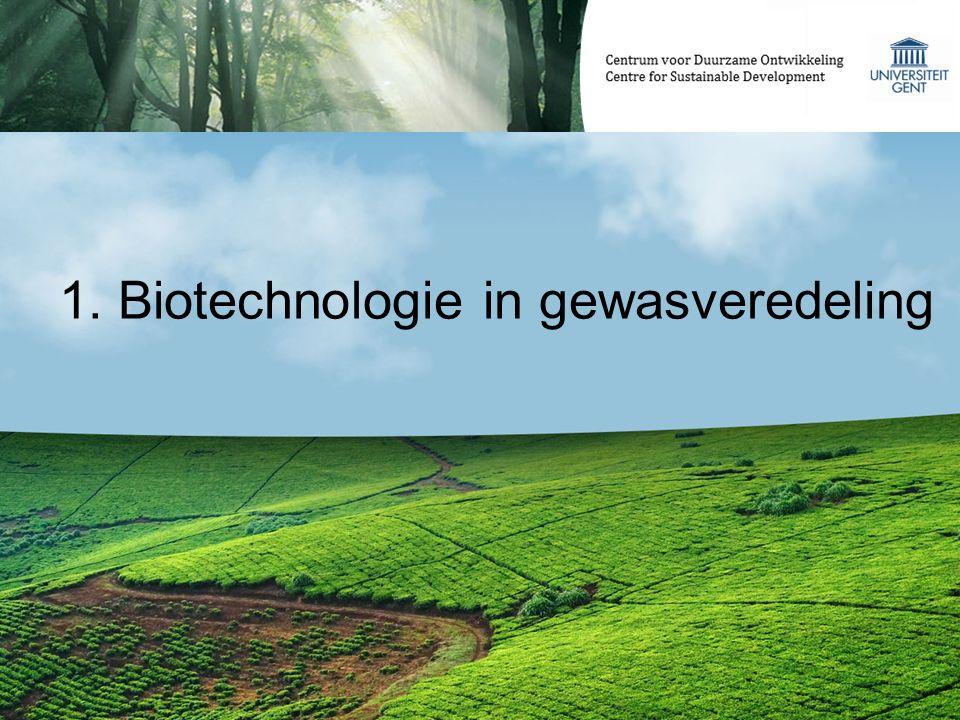 1. Biotechnologie in gewasveredeling
