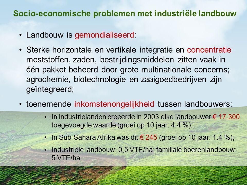 Socio-economische problemen met industriële landbouw