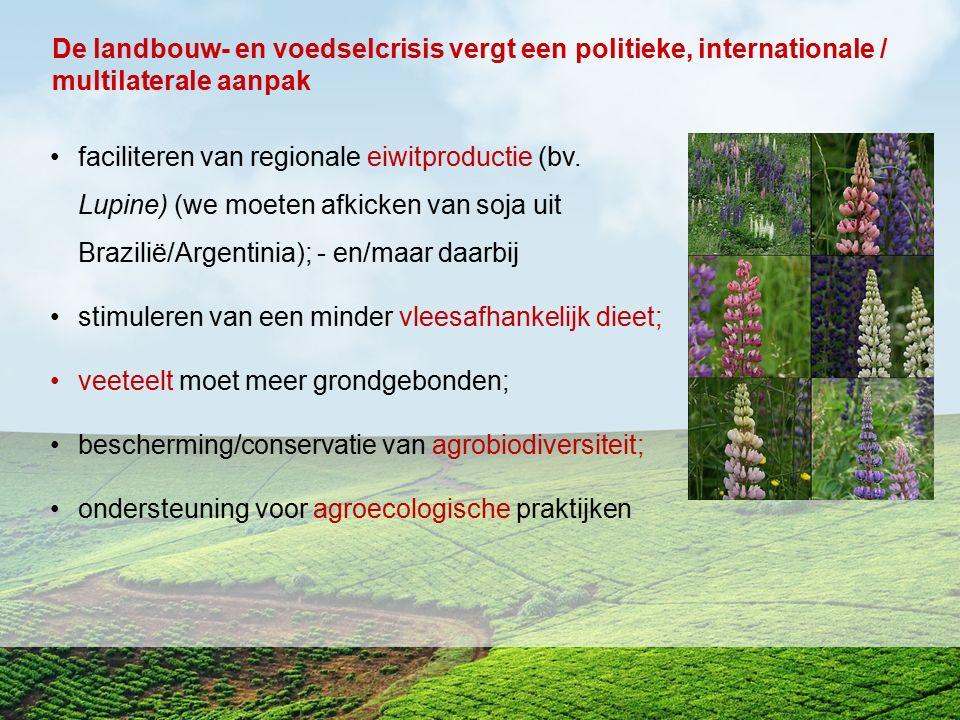 De landbouw- en voedselcrisis vergt een politieke, internationale / multilaterale aanpak