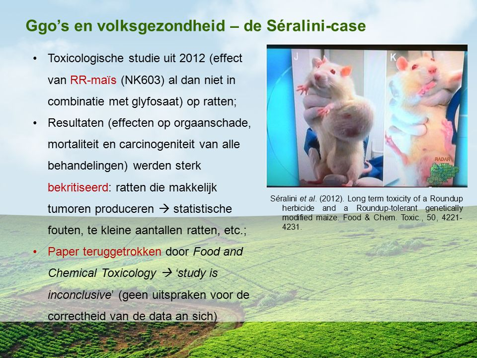 Ggo's en volksgezondheid – de Séralini-case