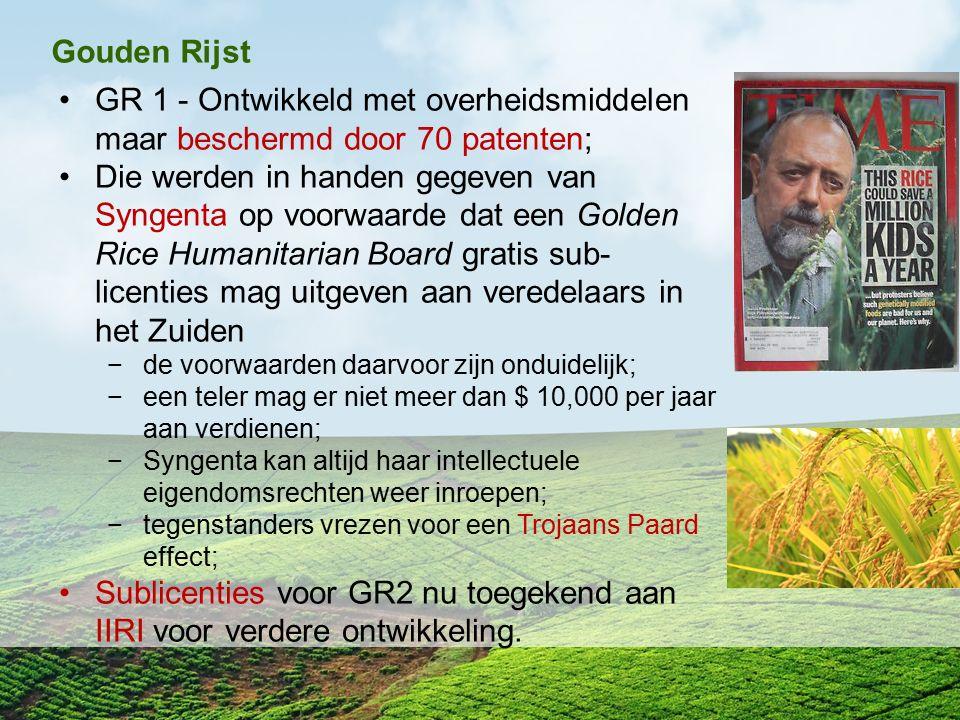 Sublicenties voor GR2 nu toegekend aan IIRI voor verdere ontwikkeling.