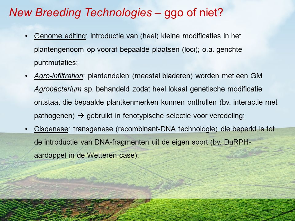 New Breeding Technologies – ggo of niet