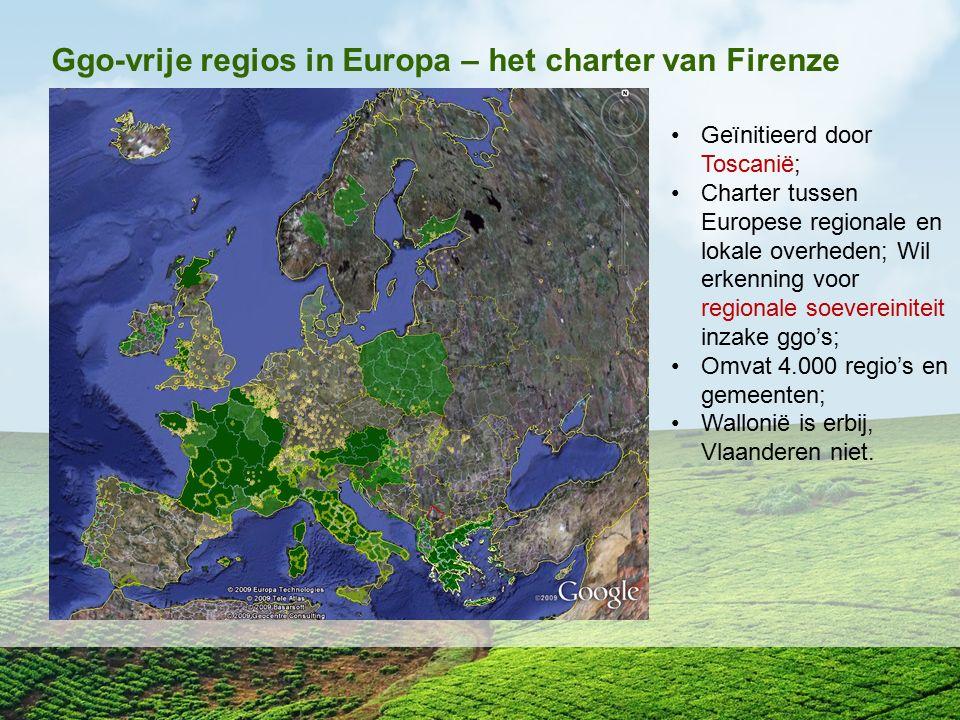 Ggo-vrije regios in Europa – het charter van Firenze