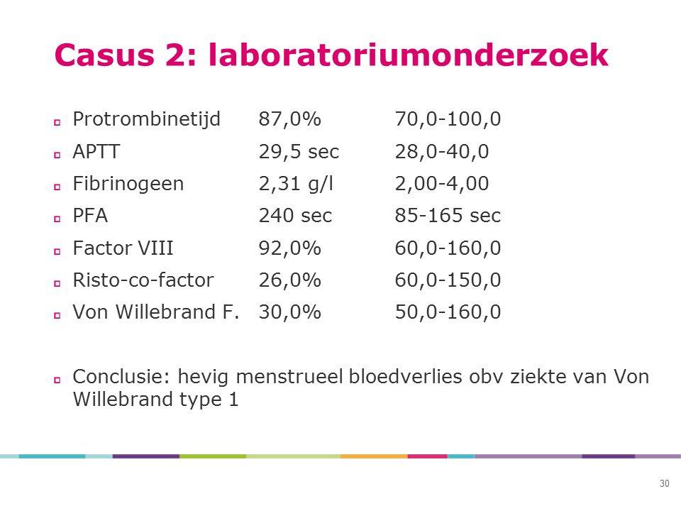 Casus 2: laboratoriumonderzoek