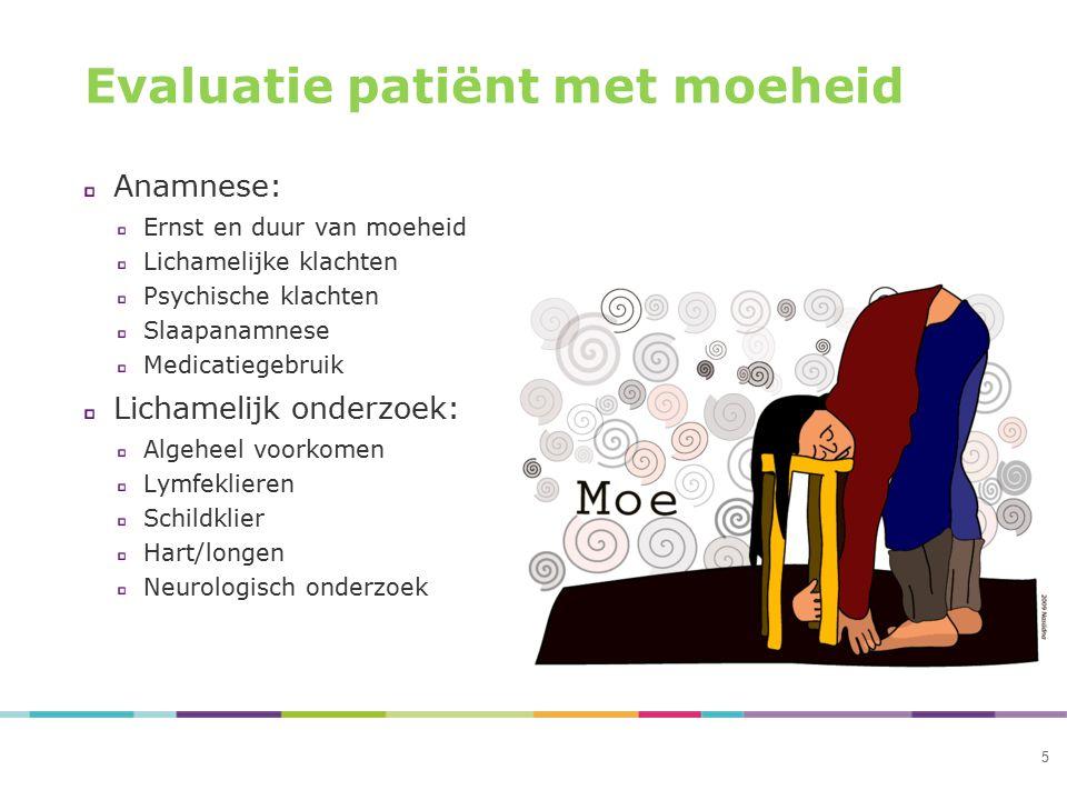 Evaluatie patiënt met moeheid