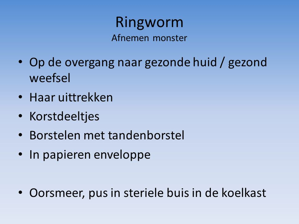 Ringworm Afnemen monster