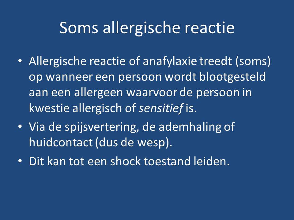 Soms allergische reactie