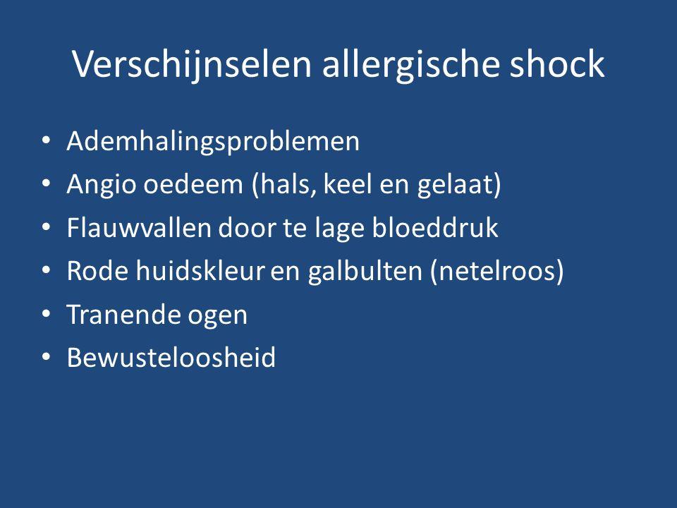Verschijnselen allergische shock