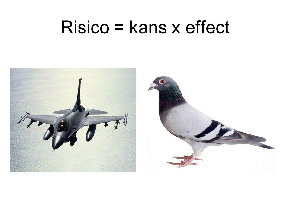 Risico = kans x effect