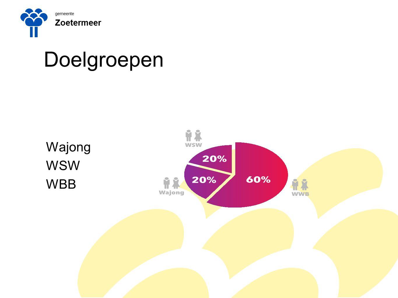 gemeente Zoetermeer Doelgroepen Wajong WSW WBB