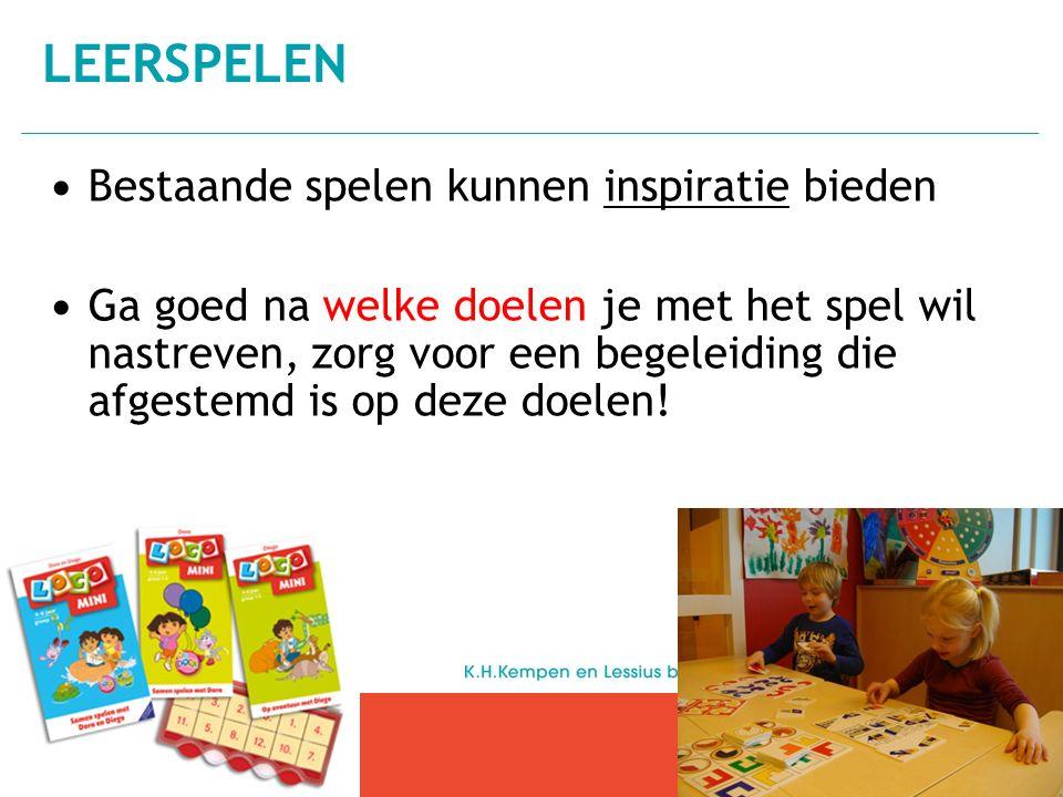 Leerspelen Bestaande spelen kunnen inspiratie bieden