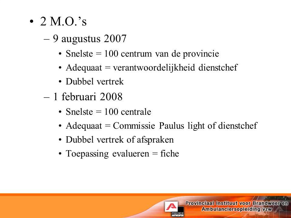 2 M.O.'s 9 augustus 2007 1 februari 2008