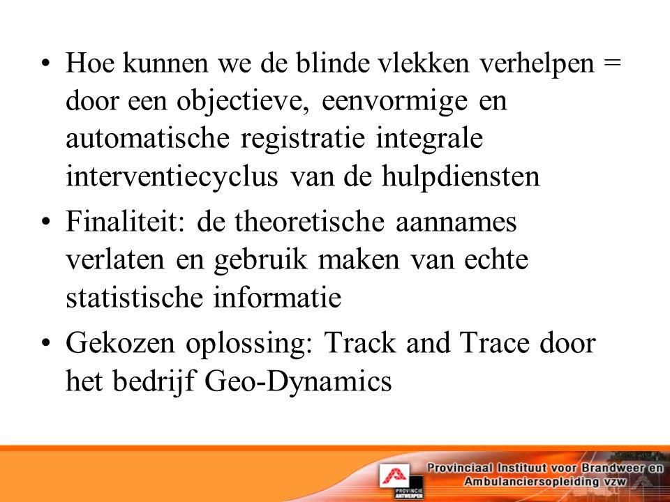 Gekozen oplossing: Track and Trace door het bedrijf Geo-Dynamics