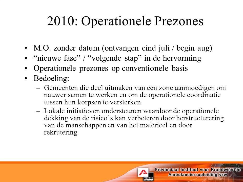 2010: Operationele Prezones