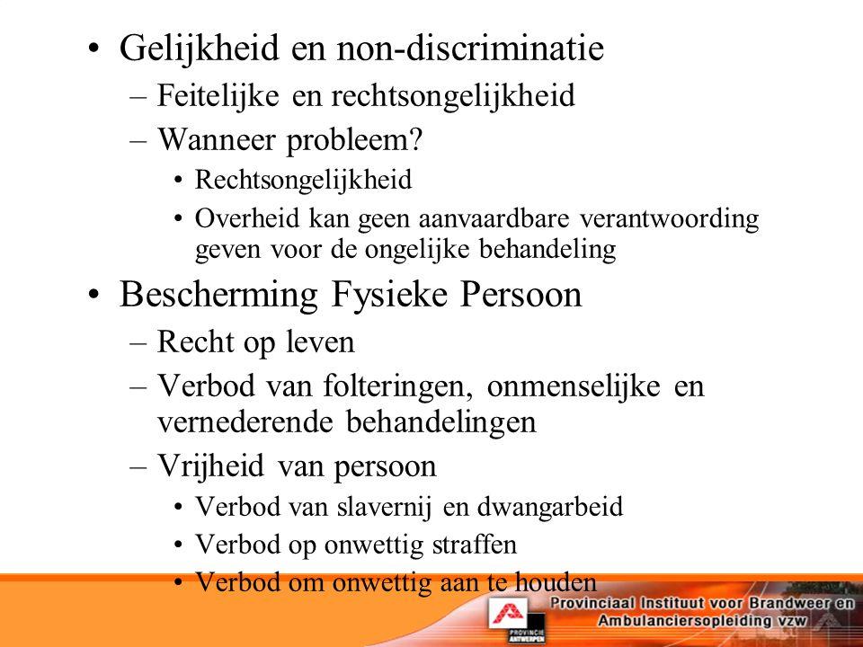 Gelijkheid en non-discriminatie