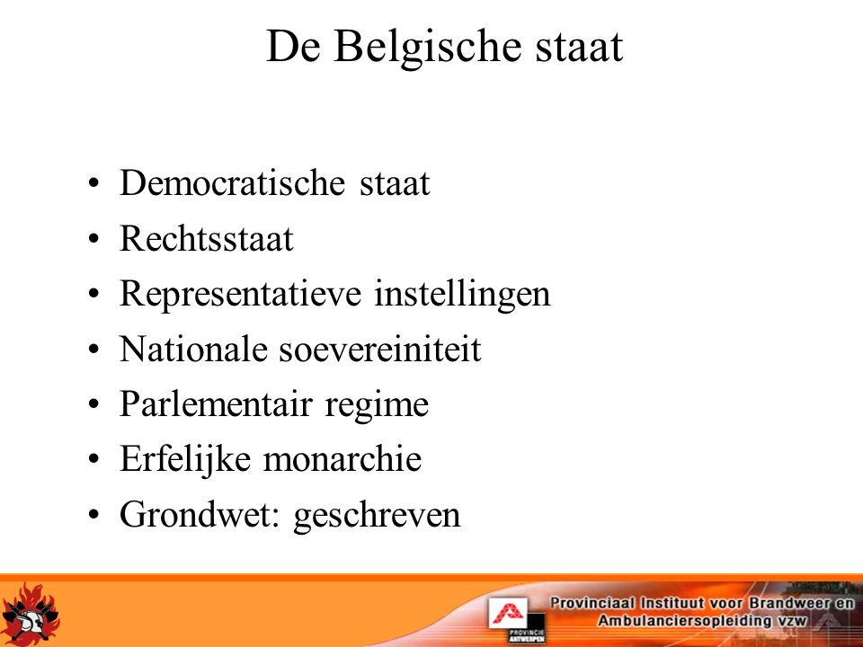 De Belgische staat Democratische staat Rechtsstaat