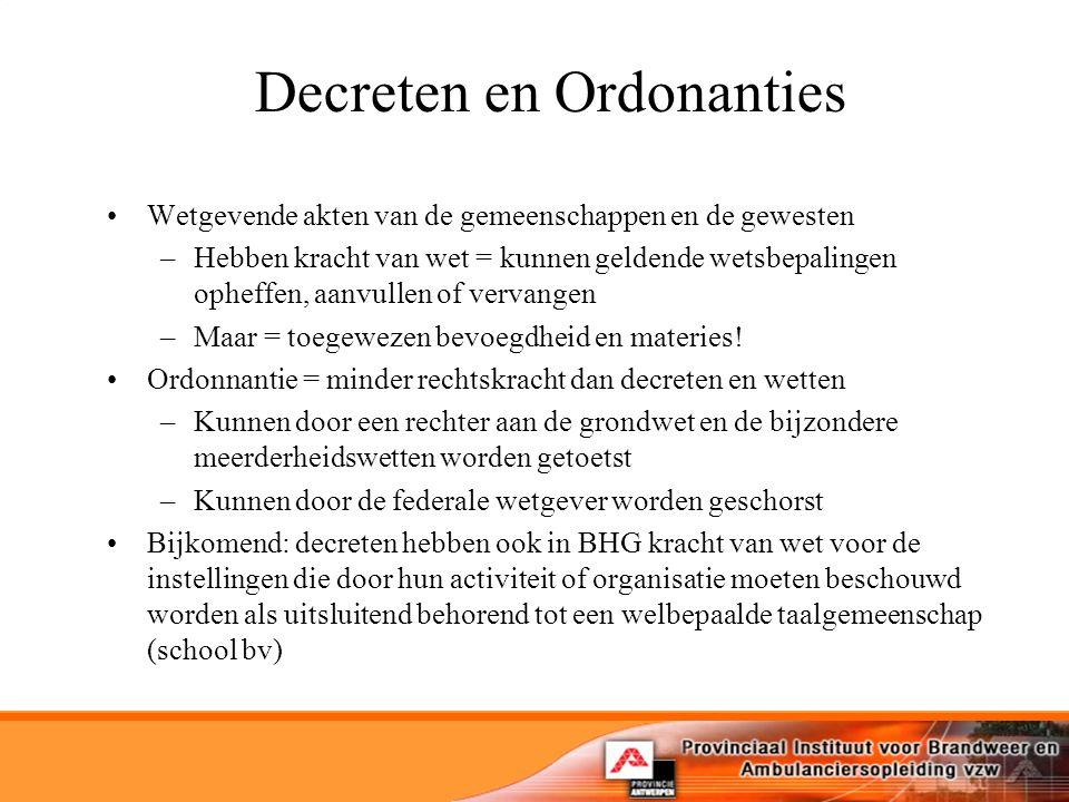 Decreten en Ordonanties