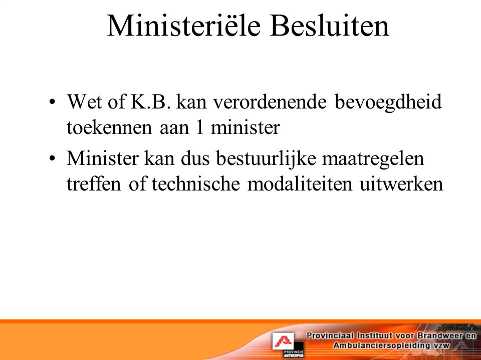 Ministeriële Besluiten