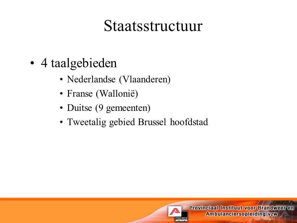 Staatsstructuur 4 taalgebieden Nederlandse (Vlaanderen)