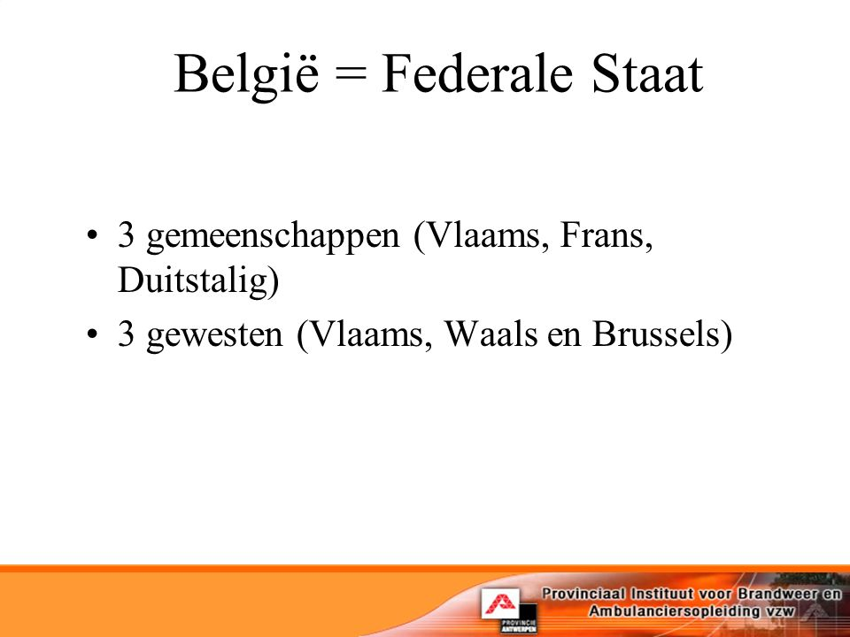 België = Federale Staat