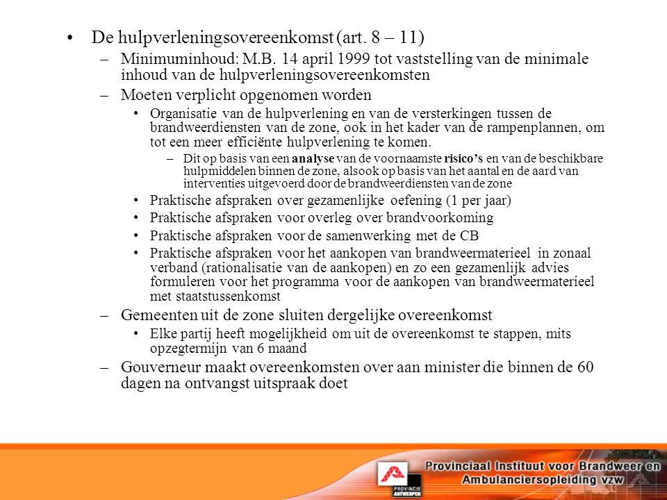 De hulpverleningsovereenkomst (art. 8 – 11)
