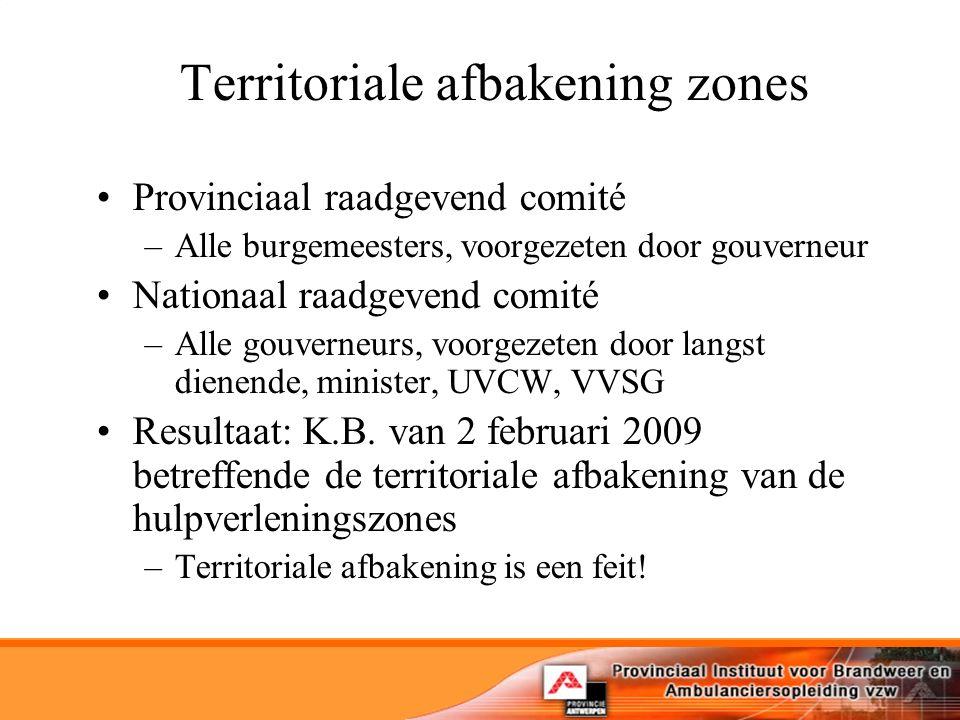 Territoriale afbakening zones