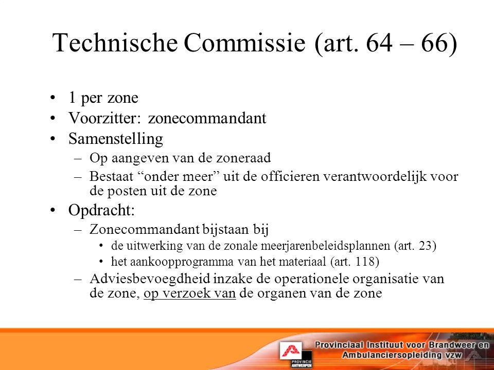 Technische Commissie (art. 64 – 66)