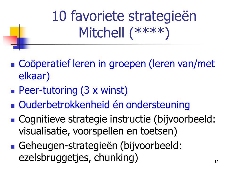 10 favoriete strategieën Mitchell (****)