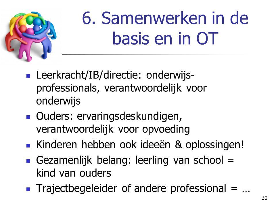 6. Samenwerken in de basis en in OT
