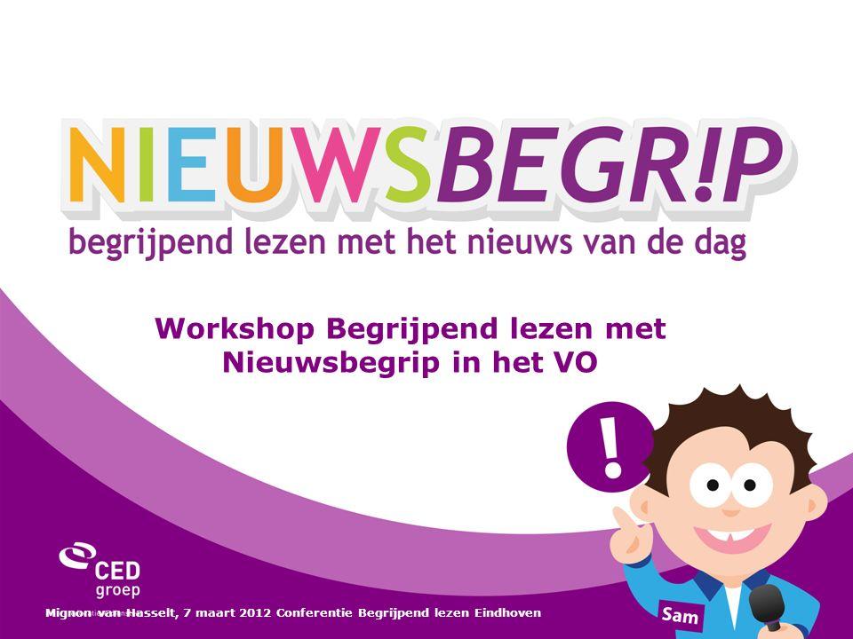 Workshop Begrijpend lezen met Nieuwsbegrip in het VO