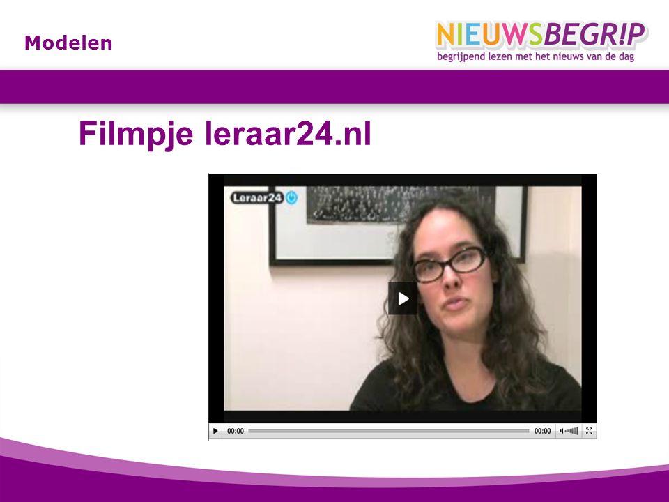 Modelen Filmpje leraar24.nl http://www.leraar24.nl/video/2650