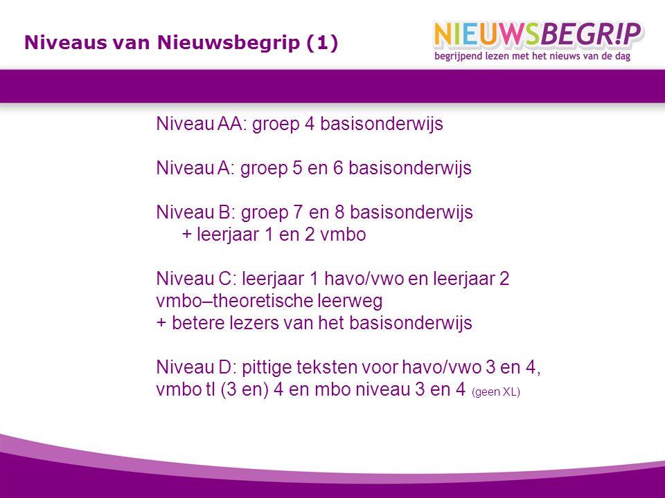 Niveaus van Nieuwsbegrip (1)