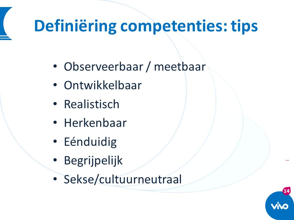 Definiëring competenties: tips