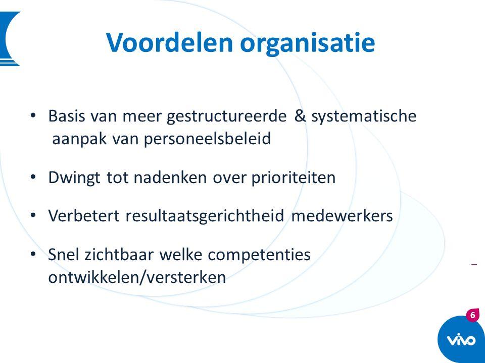 Voordelen organisatie