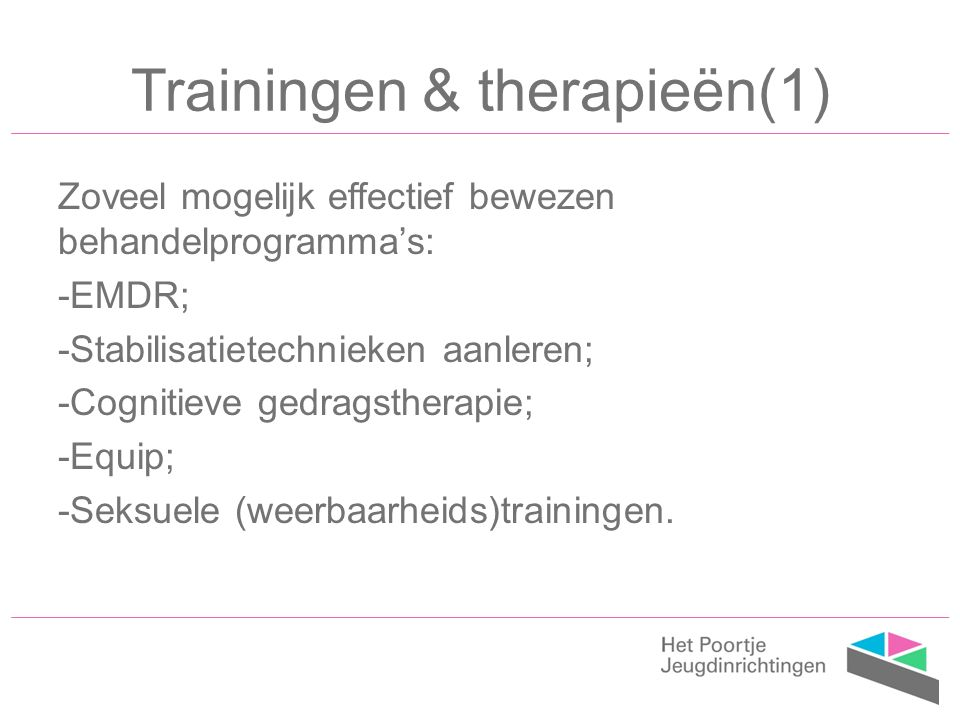 Trainingen & therapieën(1)