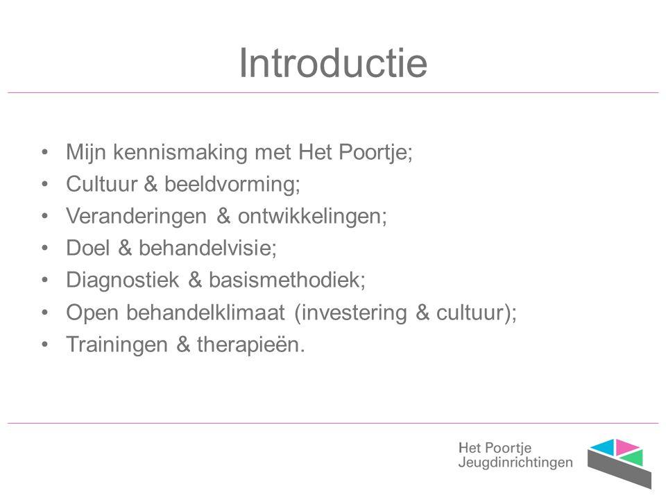 Introductie Mijn kennismaking met Het Poortje; Cultuur & beeldvorming;