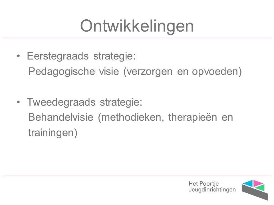 Ontwikkelingen Eerstegraads strategie: