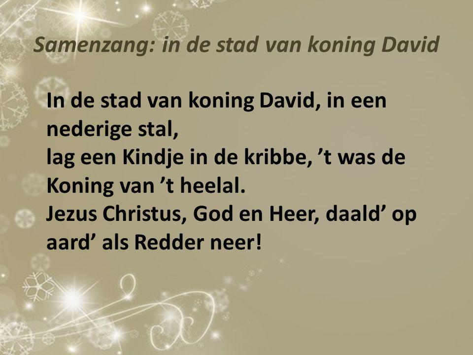 Samenzang: in de stad van koning David