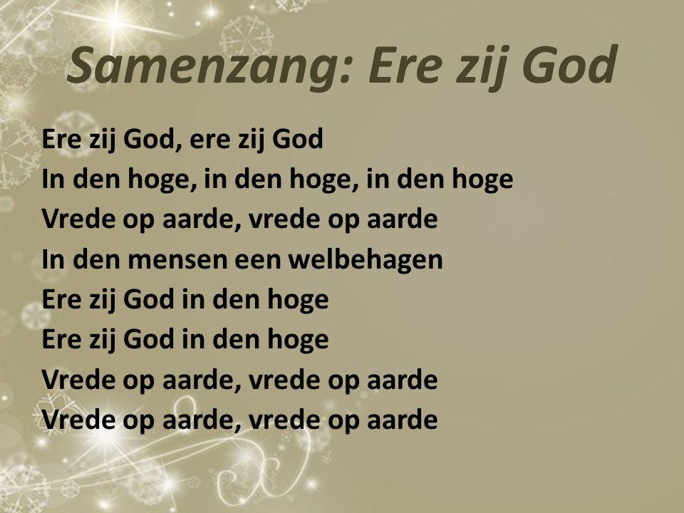 Samenzang: Ere zij God