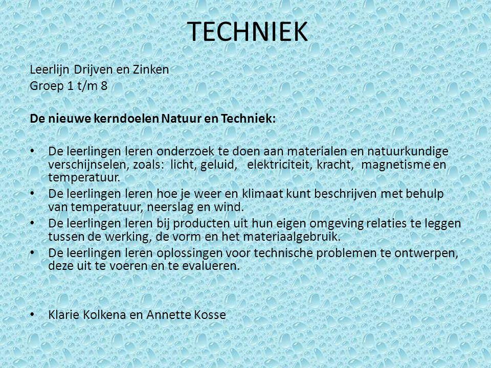 TECHNIEK Leerlijn Drijven en Zinken Groep 1 t/m 8
