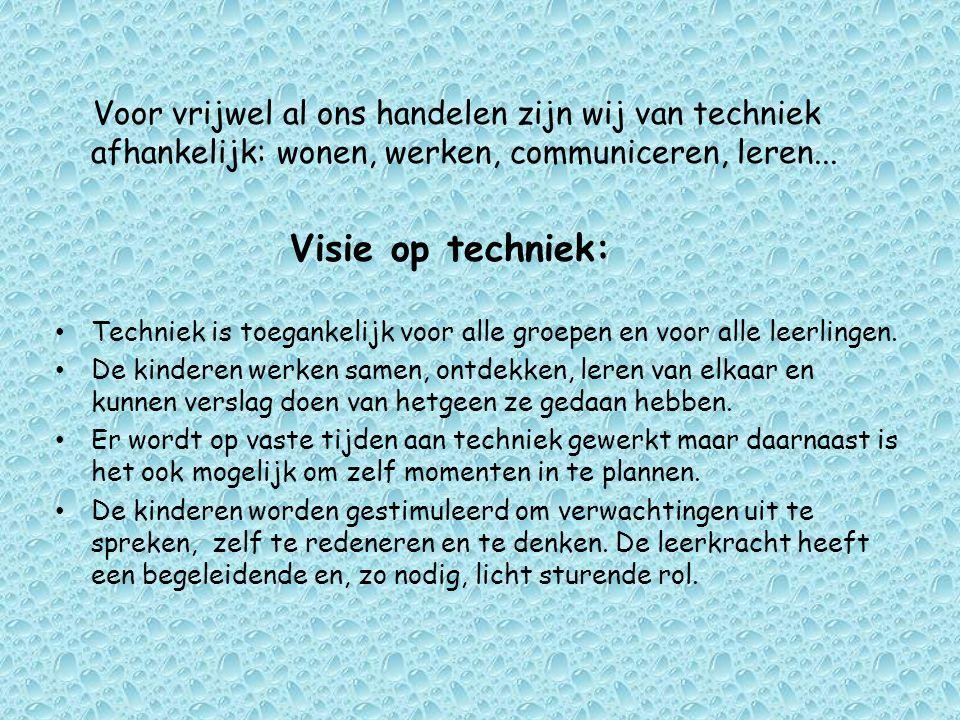 Voor vrijwel al ons handelen zijn wij van techniek afhankelijk: wonen, werken, communiceren, leren...