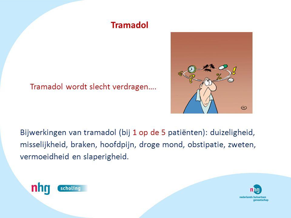 Tramadol Tramadol wordt slecht verdragen….