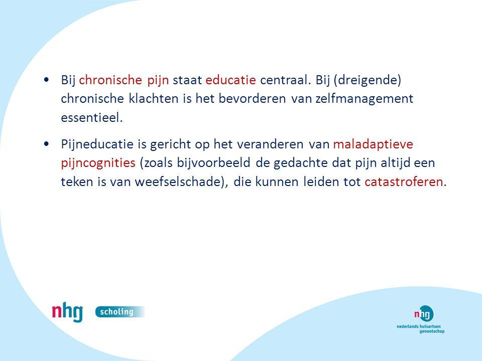 Bij chronische pijn staat educatie centraal