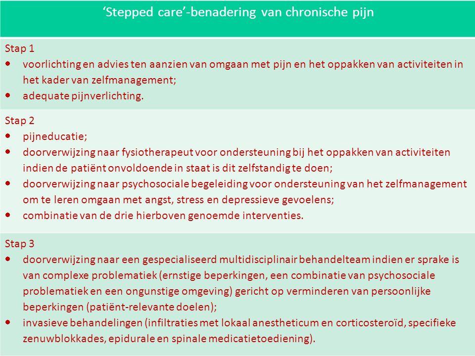 'Stepped care'-benadering van chronische pijn