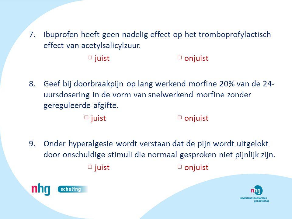 Ibuprofen heeft geen nadelig effect op het tromboprofylactisch effect van acetylsalicylzuur.
